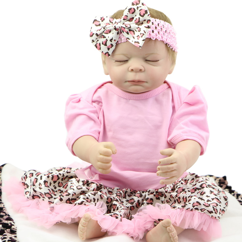 Reborn Sleeping Baby Girl Full Silicone Vinyl 20 Inch Princess Babies With Magnetic Mouth Kids Bedtime Toy Shooting Props<br><br>Aliexpress