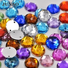 1000pcs 10mm Mix Color Rhinestones Sew On Acrylic Stones Round Flatback Strass Crystal For Clothes Decorations