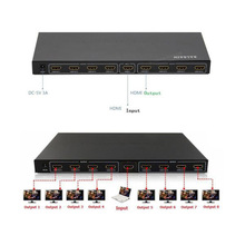 8 Port 1x8 HDMI 1.3 Amplified Powered Splitter Signal Distributor Full HD 1080P Hot Sale