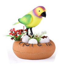 Bestselling Pretty Cute Induction Sound Voice Control Activate Toy Gift Singing Bird Fun Antistress Novelty Funny Gadgets Toys(China)