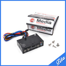 "Multifunc tion 5.25"" Media Dashboard Card Reader USB 2.0 USB 3.0 20pin e-SATA SATA Front Panel"