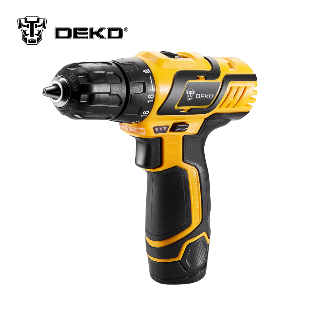 DEKO DZ222 10.8V DC New Design Household Lithium-Ion Battery Cordless Drill/Driver Power Tools Electric Drill<br>