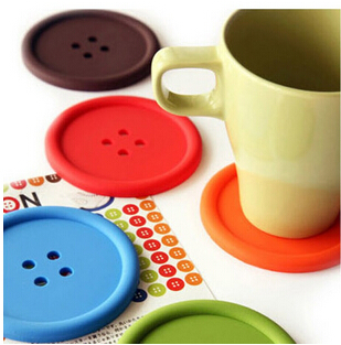 rilakkuma dessous de verre Silicone Coffee Placemat Button Coaster Cup Mug Glass Beverage Holder Pad Mat B029(China (Mainland))