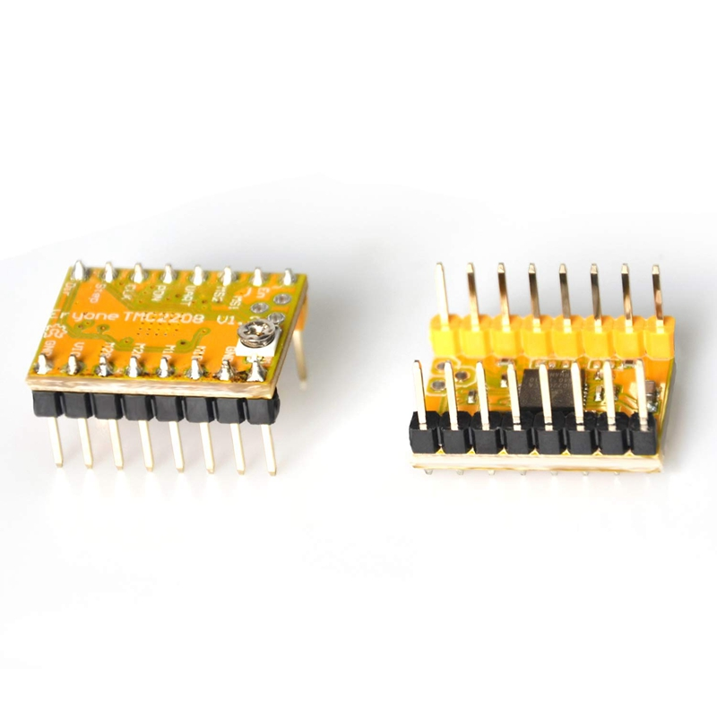 Yellow Eryone Stepper Motor Driver TMC2208 1pc Stepper Motor Driver For FDM 3D Printer mother board Packed with Heat Sink Screwdriver