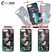 CASEIER Fashion Liquid Glitter Sand Phone Case For iPhone 6 6s 7 8 Plus Cover Capa Unicorn Sequins Dynamic PC and Soft Edge Case(China)
