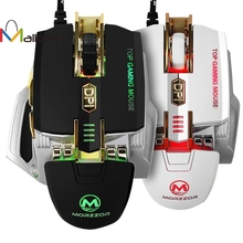 Malloom 2017 High Quality Made in China 4000 DPI 7D Buttons LED Mechanical Wired Gaming Mouse For PC Laptop(China)