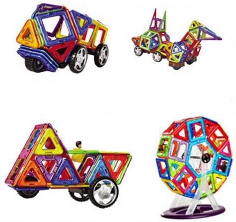 57Pcs/set Magnetic Building Block 3D Blocks DIY Kids Toys Educational Model Building Kits Magnetic bricks Toy<br>