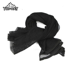 New Arrive Camouflage Military Fans Camo Scarves Field Combat Muffler Army Green Tactical Mesh Neckerchief Scarf(China)