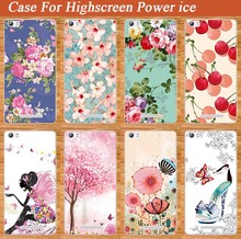 Beautiful Flowers Style Case For HIGHSCREEN POWER ICE Fashion Cover Pink Tree 3D Design Case FOR Highscreen Power Ice Cover Bags