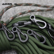 10Pcs/Lot Outdoor Mini Aluminium Alloy Hang Buckle Survival EDC Gear Carabiner Key Chain Clip Quickdraw Key Chain Travel Tools(China)