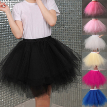 Buy 2018 Tulle Skirts Womens High Elastic Stretchy Tulle Teen Layers Summer Womens Adult Tutu Skirt Pleated Mini Skirts for $7.79 in AliExpress store