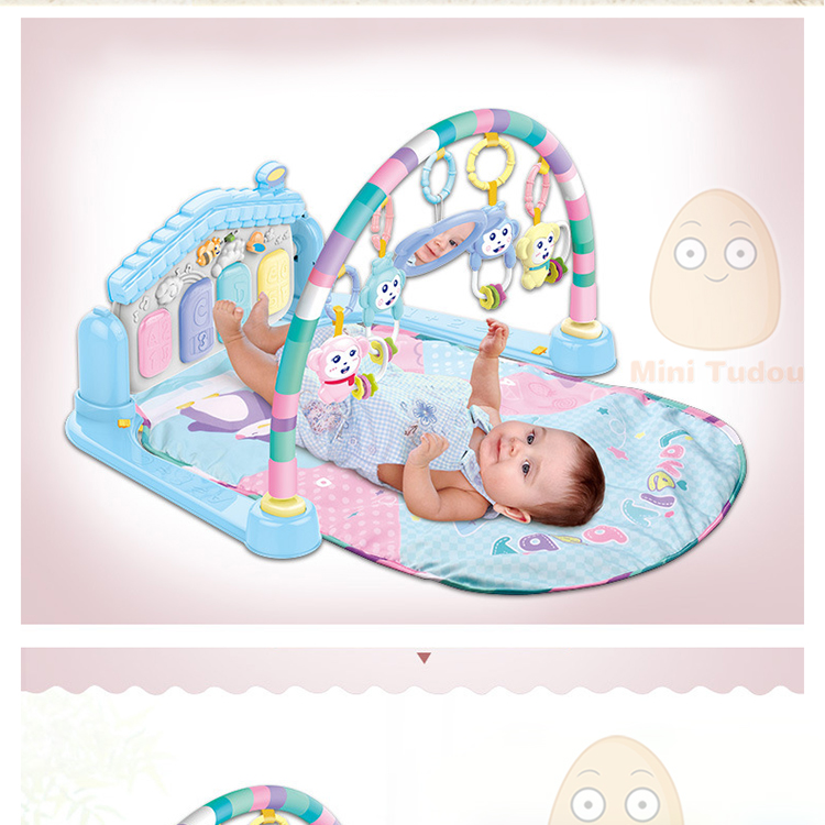 MiniTudou Baby Activity Play Mat Baby Gym Educational Fitness Frame Multi-bracket Baby Toys 0-12 Months Game Mats For Kids 2