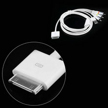 1PCs Video AV Cable to TV RCA USB Charger for iPad for iPod for iPhone 4 4S for iPod Touch Promotion