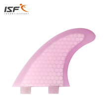 cheap sale Surfboard Fins  Fin Set (3) FCS Compatible Medium Customized Pink Fiberglass Surf Fin M5