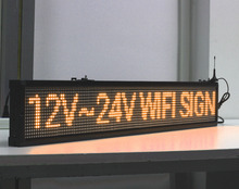 125cm LONG 12V 24V Popular WIFI Wireless Programmable LED Bus Sign Display / Car sign/ vehicle sign/factory display