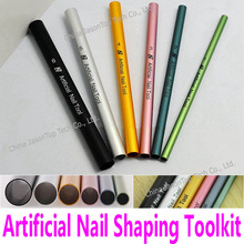 6pcs Artificial Nail Shaping Tools Nail Art Tools UV Acrylic Curving Tube Set Manicure French C Curve Rod Sticks Toolkit