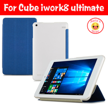 "Ultra-thin High Quality PU Case Cover For CUBE iwork8 Ultimate/For CUBE iwork8 Air 8"" Tablet  Edition With Free Hot 3 Gifts"