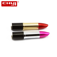 CHYI New Lipstick Design USB Flash Drive U Disk 4gb 8gb 16gb 32gb 64gb Pendrive Metal USB Memory Stick Cool Pen Driver for Gift