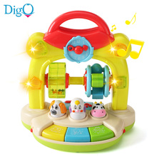 Musical Instrument Animal Farm Toy with Light and Sound(China)