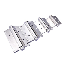 4/5/6 Inch Stainless Steel Single Action Concealed Door Silver Spring Adjustable Hinges For Saloon Cafe Door Shop Swing Door 2Pc(China)