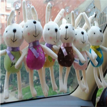 36pcs /lot Mix Color New Kawaii Stuffed Soft Plush Toy Easter Cartoon Doll Rabbit Bunny Toys for Children Drop Shipping Z163-2(China)