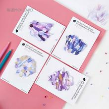 Creative Hand Drawn Watercolor Memo Pad Sticky Notes Escolar Papelaria School Supply Bookmark Post it Label(China)
