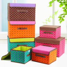 Non woven fabric storage box large clothes toy box with cover folding box closet organizer