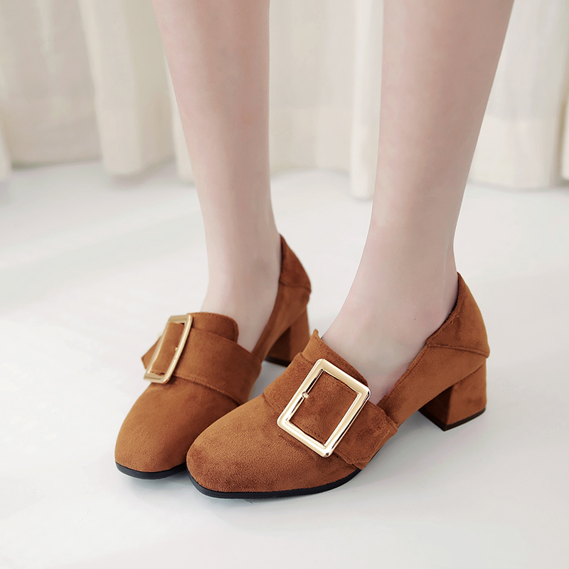 Sale Big and Small 31-48 Size 4 Colour New Spring Autumn Womens Pumps Women Shoes  Square Toe  Square heel 75-2<br>