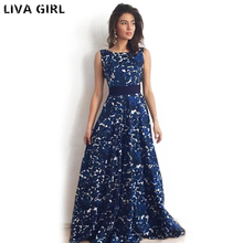 Buy 2018 Sexy Women Maxi Boho Dress Halter Neck Floral Print Sleeveless Summer Dress Holiday Long Beach Dress Vestidos Party Dresses