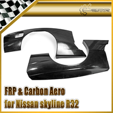 Car-styling FRP Fiber Glass Rocket B Style Rear Over Fender With Fiberglass Extension 4pcs Mudguard For Nissan R32 GTR Wide Body