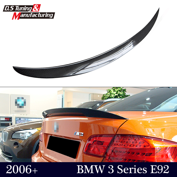 M performance style e92 coupe e93 cabriolet cf spoiler rear trunk wing for bmw 3 series 2-door 2006 - 2012 gloss black p style<br><br>Aliexpress