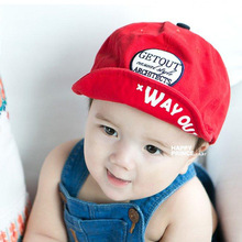 2016 New Get Out Letters Baby Cap Red Navy Boy's Soft Brim Visor Gorras Planas Hip Hop Hat Unisex Baseball Cap Fotografia(China)