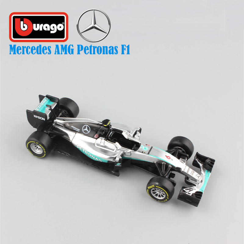 1/43 Scale kids Mercedes AMG Petronas F1 W07 Hybrid 2016 No.44 Lewis Hamilton No.6 Nico Rosberg metal diecast cars model toy boy(China (Mainland))