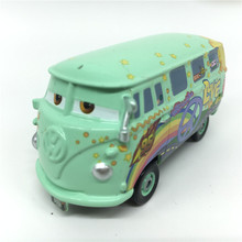 Pixar Cars 2 Bus Fillmore Diecast Metal Toy Car For Children Gift Loose New In Stock 1:55 Scale Free Shipping
