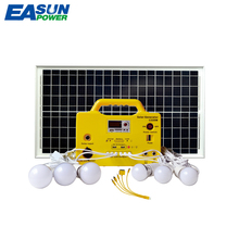 EASUN POWER Portable Solar Power Generator Mini 30W Solar Panel 12V / 7Ah DC Solar Lighting lamp lead acid Battery(China)