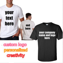 Custom t shirt Printed Personalized T-Shirts designer logo mens t shirt Advertising brand new tshirt short sleeve plus size(China)