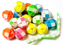 72 PIECE Plastic Magic Folding Snake Puzzle Ball Block Girl Boys Kids Pinata Bag Filler Birthday Party Favors Gift Novelty Prize