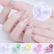 1 Box Nail Sequins,12 colors for choose  Nail Sequins women DIY nai art,apply on natural or artificial nails