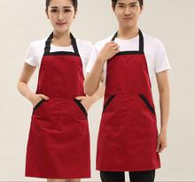Apron custom printing Korean New design cute fruit nail tea drink shop store adult work clothes apron kitchen clothing(China)