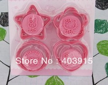 Free Shipping 4 designs hello kitty molds, Biscuit molds, Cake Mold Cutters, Cookie moulds, 50 sets