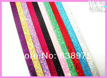 8mm*1m Mixed Color Sequin PU Leather DIY Belt Fit 8mm Slide Letter Charms DIY Accessory Free Shipping