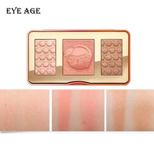 Brand Cosmetic Face Makeup PEACH GLOW 3 Color Blush Palette Highlighter Palette New In Box