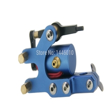 Crazy Tattoo Supply Professional High Quality New CNC Aluminum Balance Rotary Tattoo Machines Blue Tattoo Gun Free Shipping