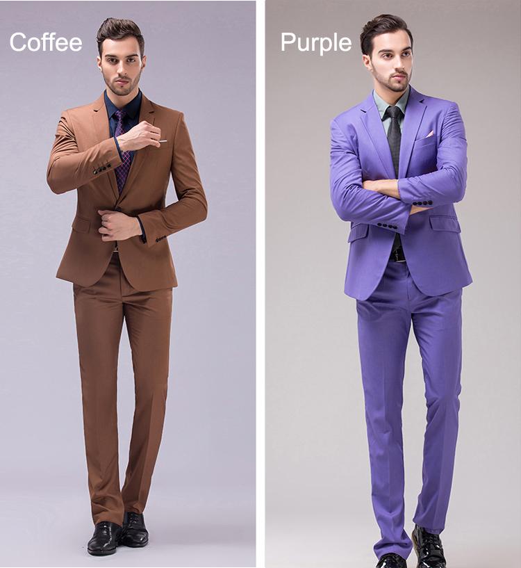 HTB1Gt7xRXXXXXa8XVXXq6xXFXXX4 - OSCN7 12 Color 2pcs Slim Fit Suits Men Notch Lapel Business Wedding Groom Leisure Tuxedo 2017 Latest Coat Pant Designs S-4XL
