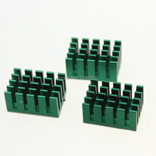 20 pieces LOT Green Aluminum Heatsink Radiator 20mmx 14mmx 10mm