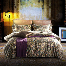 Luxury palace colorful double bedding sets,full queen king top plush cotton home textiles flat sheets pillowcase duvet cover