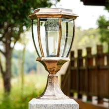 Solar Post Cap Light Deck Fence Mount Outdoor Garden Fence Lamp Elegant solar outdoor post lamps(China)