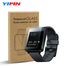 Tempered Glass for LG G Watch W100 Screen Protector 9H 2.5D 0.33mm Yipin Anti Fingerprint Anti Scratch Smart Watch Glass Film(China)