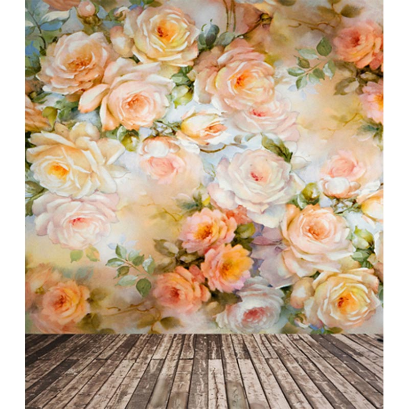 Photography backdrops fabric fotografia flower wallpaper photo backgrounds for photo studio props photophone CM-6718<br>