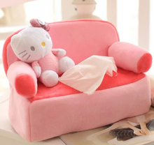 Candice guo plush toy stuffed doll cartoon funny sofa hello kitty cat paper towel case Vehicle tissue box cover creative gift